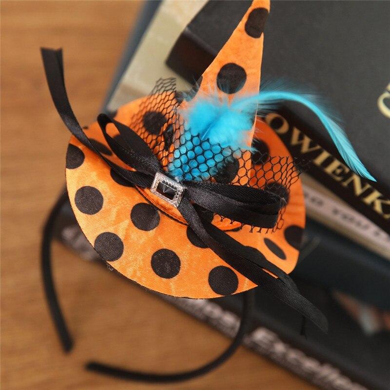 New Mini Witch Hat Headband Halloween Headbands For girls Fancy Dress Props Cosplay Party Gifts Headwear Kids 30Jul3115
