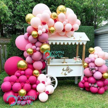 2020 DIY Retro gorący różowy balon Garland Arch zestaw 4D złoty fioletowy i różowy balon s na urodziny i bociankowe przyjęcie weselne dekoracje tanie i dobre opinie CN (pochodzenie) ROUND Lateks Tak ( 50 sztuk) Ślub i Zaręczyny Chrzest chrzciny Na Dzień świętego Patryka Wielkie wydarzenie