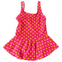 Baby Girl One Piece Swimsuit Floral Print Swimwear Dress Sunsuit Outdoor Summer Beachwear Outfit Children (Random pattern)