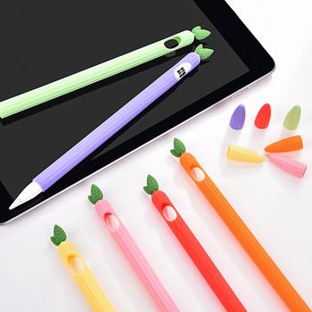 Dla Apple pencil 1 2 skrzynki pokrywa uniwersalny kolorowy dla IPad piórnik antypoślizgowa ochrona silikon dla apple Pencil 2 1 rękaw tanie i dobre opinie CN (pochodzenie) Odporność ekranu Tabletki Laptopy 20CMinchinch Silicon for apple pencil 1 case for apple pencil 1 Generation Sleeve