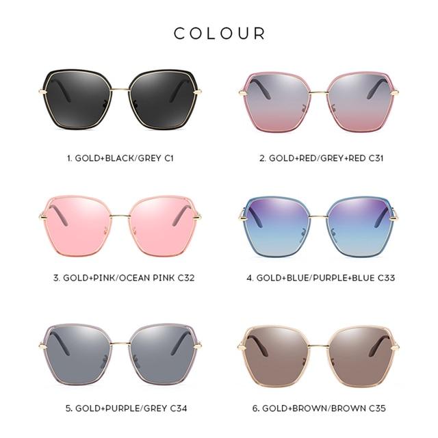 2020 Fashion Luxury Vintage Womens Sunglasses HD Polarized Lens Ladies Fashion Trending Sun Glasses UV400 Protection 5