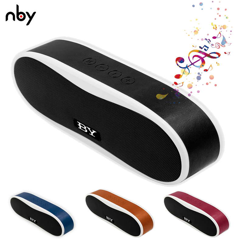 NBY 6640 Mini Portable Bluetooth Speaker Wireless Computer Bass Speakers Sound System 3D Stereo FM Radio Support TF Card AUX TWS