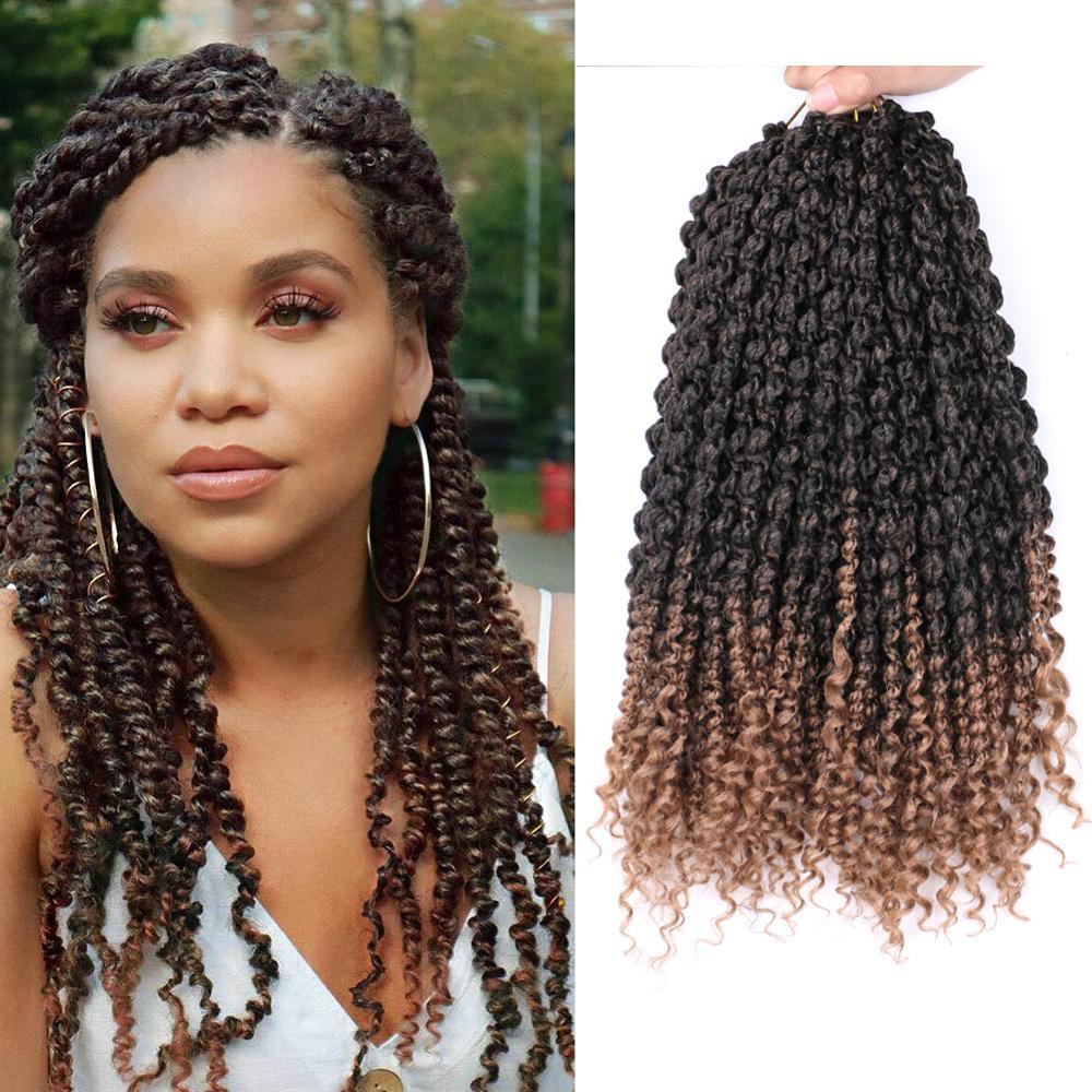 Волосы для наращивания Mtmei, 14 дюймов, пружинные закрученные крючком волосы, черные, коричневые, бордовые витые крючком волосы для наращивани...