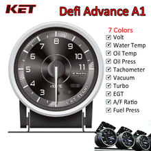 цена на Defi Advance A1 60mm Defi Gauge Water Temp Gauge Oil Temp Gauge Turbo Boost Gauge Ext Temp Gauge Oil Pressure Gauge