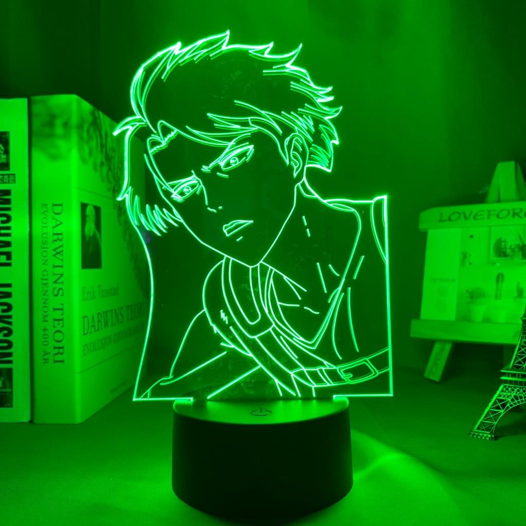 H1af8fa1dcc9e425fa4ca1a1ba98d8effm Luminária Attack on Titan Shingeki no Kyojin Ataque em titan levi ackerman acrílico 3d lâmpada para casa decoração do quarto luz presente da criança levi ackerman led night light anime