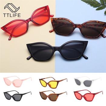TTLIFE 2020 Cat Eye Sunglasses Women Leopard Frame Sun Glasses Black Female Sunglass Brand Designer Vintage Glasse Shades Retro
