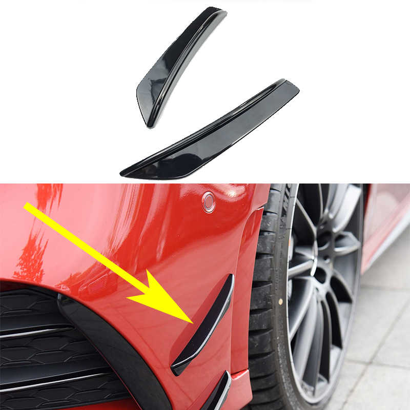 Voor Mercedes A Klasse W177 Amg A180 A200 A250 A35 2019 2020 + Voorbumper Side Fender Mistlamp Air vent Cover Trim Auto Styling