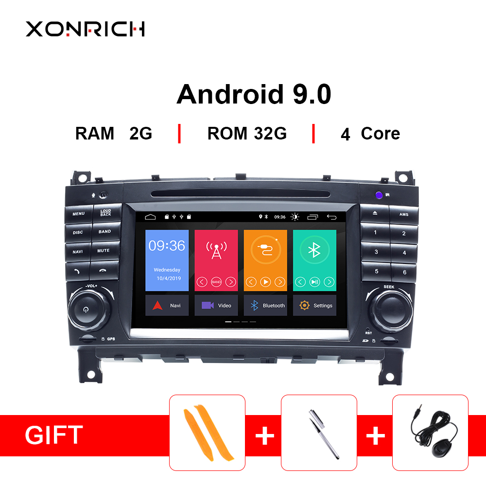 2Din Android 9 Car DVD Multimedia GPS Navi Radio For Mercedes/Benz <font><b>W203</b></font> W209 W219 A-Class C-Class CLS C180 <font><b>C200</b></font> CLK200Vito Viano image