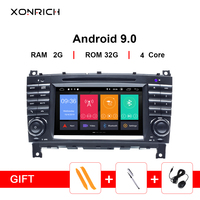 2Din Android 9 Car DVD Multimedia GPS Navi Radio For Mercedes/Benz W203 W209 W219 A Class C Class CLS C180 C200 CLK200Vito Viano
