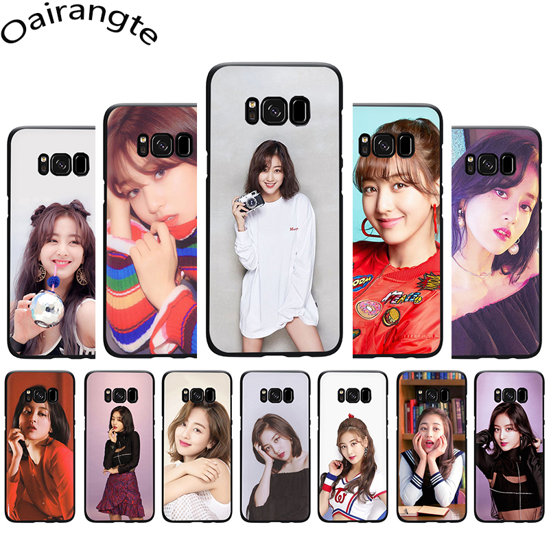 <font><b>Korean</b></font> kpop twice Jihyo Soft Silicone <font><b>Case</b></font> Cover For <font><b>Samsung</b></font> Galaxy S6 S7 Edge S8 <font><b>S9</b></font> S10 plus S10e Note 8 9 10 image