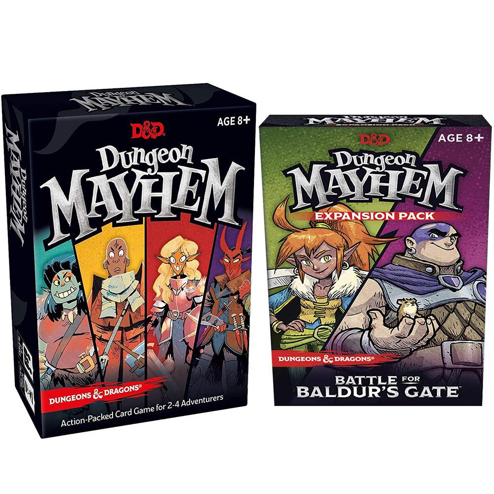 Dungeones Mayhem Dungeonsing Dragons Card Game120 Cards Toy Entertainment Party Family Friends Battle For Baldurs Gate Board