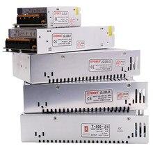 Alimentation de pilote LED, transformateur d'éclairage, coque en fer, adaptateur d'alimentation de commutation pour bande lumineuse, 110V 220V à DC5V 12V 24V