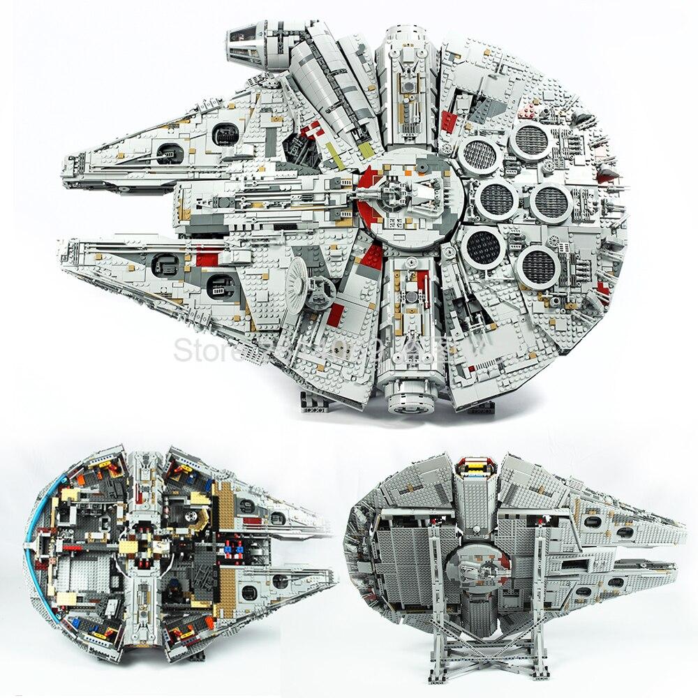 Em estoque 05132 star wars série final colecionador modelo destroyer blocos de construção tijolos crianças brinquedos presente natal 75192