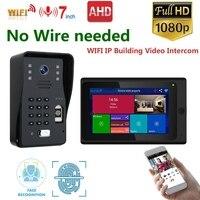 Mountainone Smart IP Video Intercom WIFI Video Door Phone Door Bell WIFI Doorbell Camera IR Alarm Wireless Security Camera