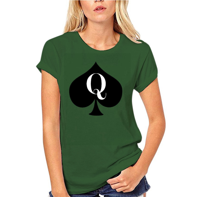 Women's Tee Queen Of Spades Junior Fit T Shirt Cotton Casual Lady girl female lady Tops tshirt