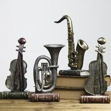 Dekoracja do domu w stylu retro ozdoby muzyka dekoracja nowa dekoracja cena saksofon skóra instrument figurka z żywic