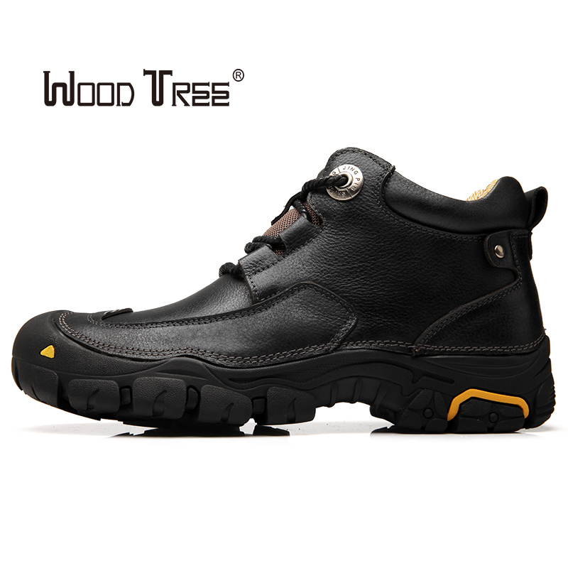 WOODTREE Spring And Autumn Fashion Hot Selling Outdoor Men's Shoes Hiking Shoes Comfortable Casual Leather Shoes