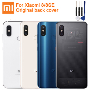 Image 1 - Xiaomi Mi המקורי זכוכית סוללה אחורי מקרה עבור Xiaomi 8 MI8 MI 8 פרו M8 8SE Mi8 פרו טלפון סוללה חזרה כיסוי Backshell + כלי