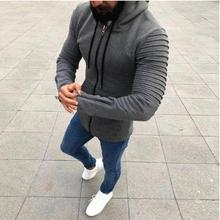 2019 New Autumn Winter Hoodies Mens Sweatshirts Zipper Solid Hoody Fleece Thick Men Sportswear