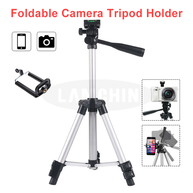 Built In Level Four Section Professional SLR Camera Tripod Phone Photography Tripod Holder With Mini Two-Section Tripod Holder