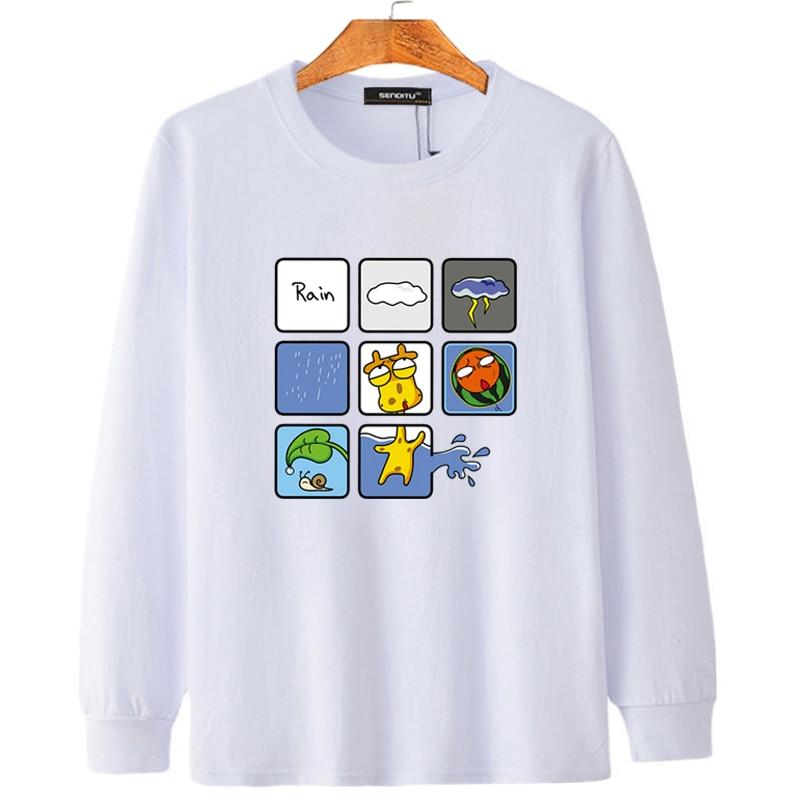 Large Size Tee Shirt Mens Long Sleeve Printed Funny Big 14 Boyfriend Fat Gift Spor Oversized