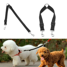 Nylon Double Two Pets Dogs Leash 2 Way Coupler Walk Necklace Dog Collars Harnesses & Leads Supplies