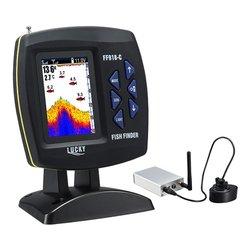 FF918-Cwls Glück Boot Fisch Finder Farbe Display Drahtlose Betriebs Bereich 300m Tiefe 100m