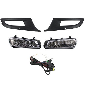 2Pcs LED DRL Daytime Running Light Fog Light for V/W Po-Lo 6R 2010 2011 2012 2013 2014 6R0941061C with Lampshade