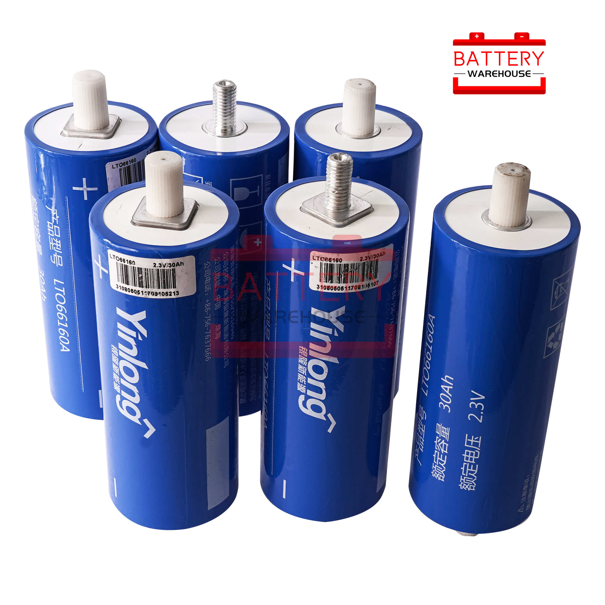 6pcs LTO <font><b>66160</b></font> 2.4v 30Ah Lithium Titanate Battery Cell 2.3v <font><b>66160</b></font> 10C 300A for Diy Pack 12v not lto 40ah Long Cycle Life Stocks image