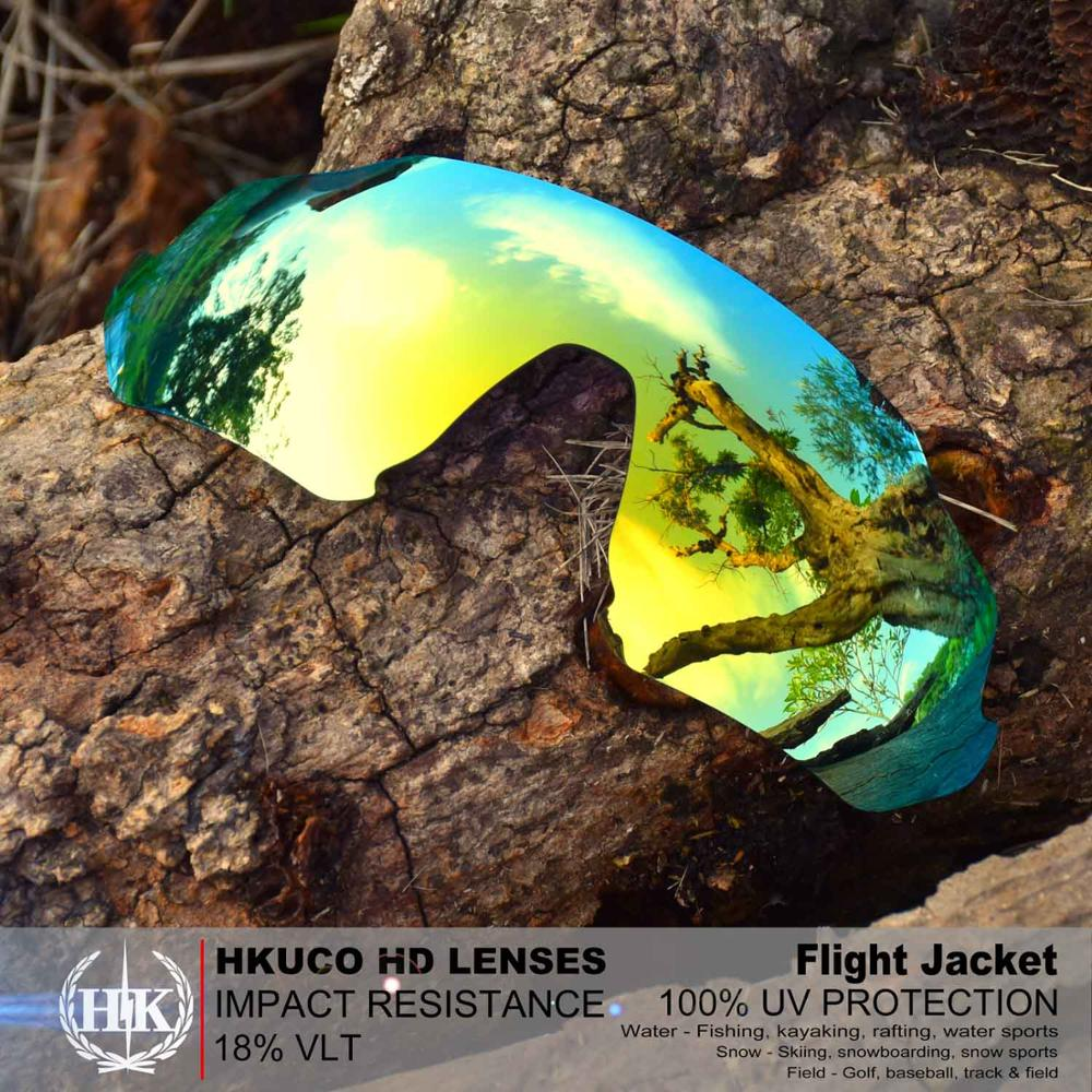 HKUCO For Flight Jacket Sunglasses Polarized Replacement Lenses