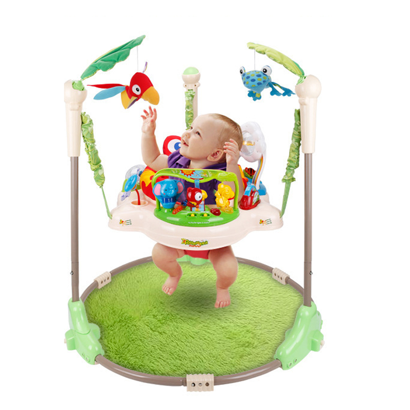 Multifunctional Electric Baby Jumper Walker Cradle Tropical Forest Baby Swing Rocking Body Child bouncer Swing Fitness Home v5 VC