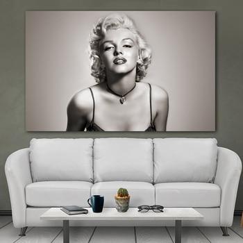 Pósteres e impresiones artísticos Vintage de Marilyn Monroe, estrella de la película, sobre lienzo, sala de estar de pared para imágenes artísticas, habitación, decoración del hogar sin marco