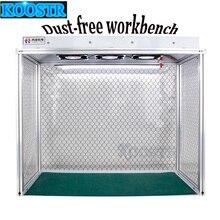 Neueste Staub Kostenloser Zimmer Schreibtisch Reinigung Anti statische Aluminium Legierung Staub Kostenloser Bank für LCD Sanierung Telefon Reparatur Ausrüstung