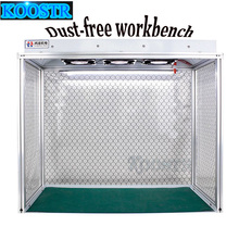 Newest Dust Free Room Desk Cleaning  Anti static Aluminum Alloy Dust Free Bench for LCD Refurbishment Phone Repair Equipment