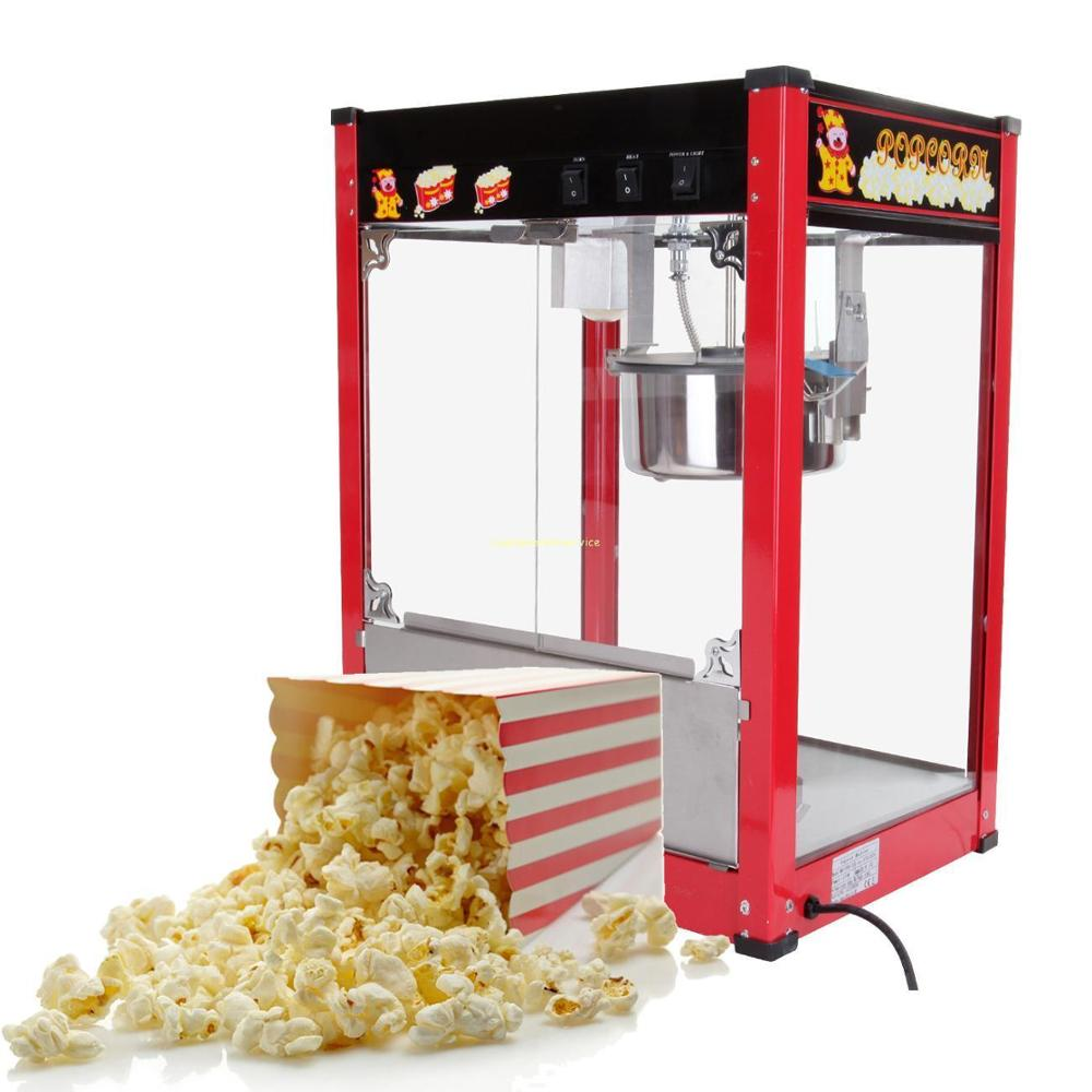 Popcorn Maker 1370W 8OZ Commercial Electric Popcorn Machine For Christmas Party