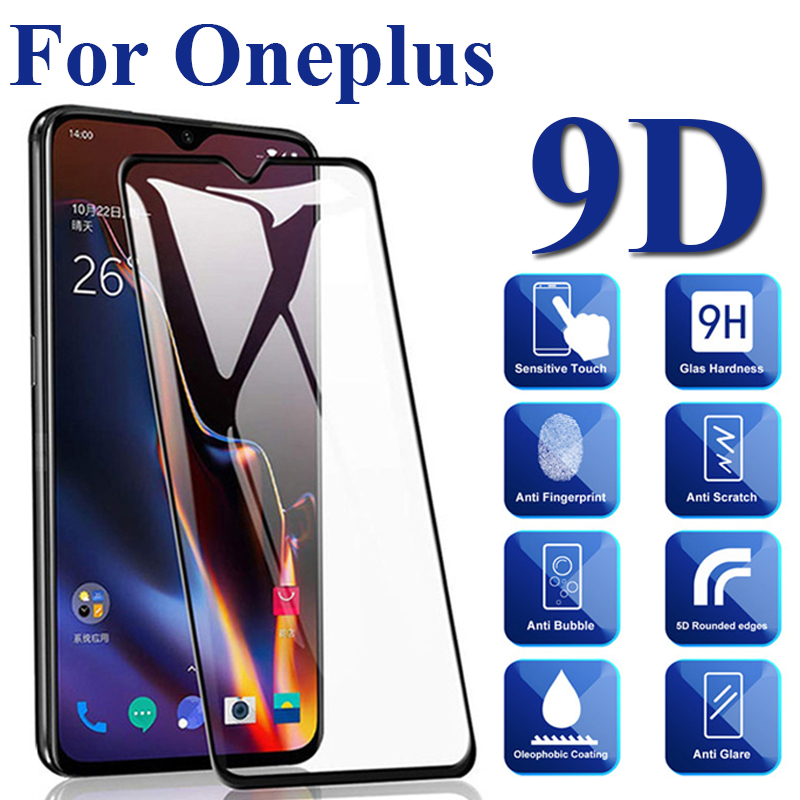 Protective Glass For Oneplus 3 5 6 7 Full Coverage All Glue 9D Coverage Screen Protector Tempered Glass For 3T 5T 6T