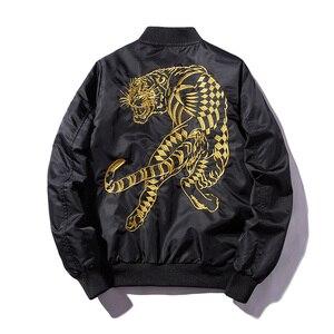 Мужская куртка-пилот MA1, тонкая куртка с вышивкой золотого и белого тигра, Mns, 2019