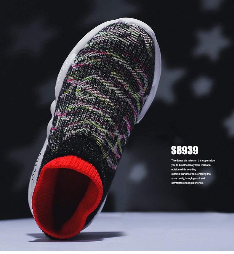 PINSEN 2019 Spring Autumn Children Sneakers Girls Shoes Fashion Kids Shoes Mesh Breathable Child Socks Shoes Boys Casual Shoes (12)