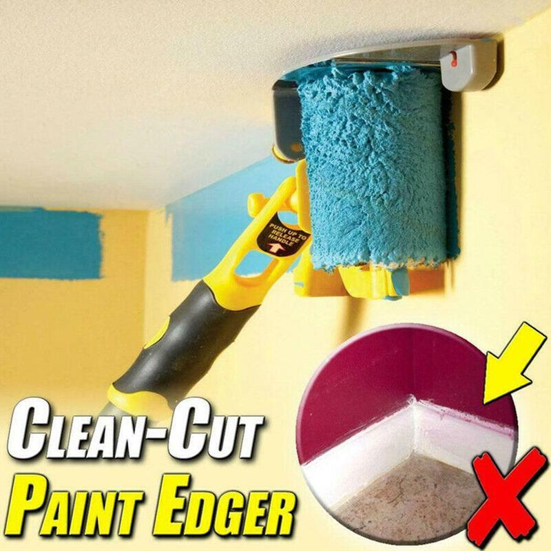 Clean-Cut Paint Edger Roller Brush Safe Tool Portable for Home Room Wall Ceilings HJU1035(China)