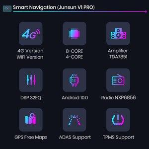 Image 3 - Junsun 4G + 64G אנדרואיד 10 עבור ניסן הקאשקאי X שביל 2014   2017 אוטומטי 2 דין רכב רדיו סטריאו נגן Bluetooth GPS לא 2din dvd