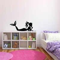 Наклейка на стену в спальню, наклейки на стену с изображением русалки, воды, нимфы, милые детские наклейки с рисунками из мультфильмов для де...