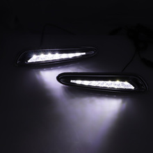 1set LED Daytime Running Lights DRL Case for Mazda 3 Axela 2012-2013 LED Front Bumper White+Yellow Fog Lamp Car Accessories