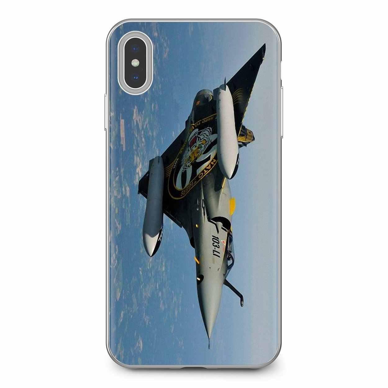 Xiaomi Redmi için 4A 7A S2 not 8 3 3S 4 4X5 artı 6 7 6A Pro pocophone F1 Mirage 2000 uçak hava kuvvetleri yumuşak çanta durumda