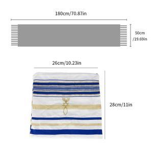 Image 5 - Messianic Jüdische Israel Tallit Gebet Schal Schals Mit Talis Tasche Geschenke für Frauen Damen Männer 180*50cm 5 farben