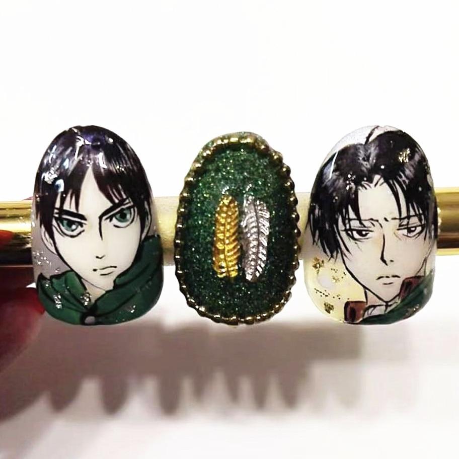TSC серии для косплея по аниме «атака на Титанов» (TSC-260 мультфильм стикеры 3d на ногти nail art Наклейки Шаблон ногти