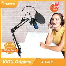 MAONO AU A03 전문 스튜디오 마이크 키트 콘덴서 카디오이드 마이크로폰 Podcast Mic for Gaming Karaoke YouTube Recording