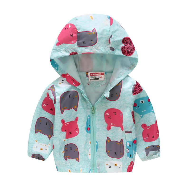 Осенние детские куртки ветровка на молнии для девочек и мальчиков, пальто водонепроницаемые толстовки с леопардовым принтом динозавра куртки для девочек 2, 3, 4, 5, 6, 7, 8 лет