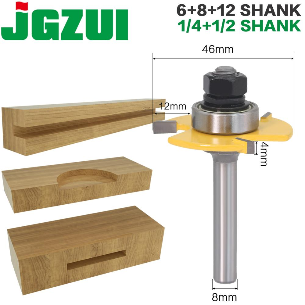 1 Pc 8mm Shank 1/4″shank 6mm Shank 1/2″shank 12mm Shank Groove Joint Assembly Router Bit Set 3/4