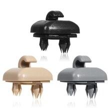 Clipe de plástico suporte para audi a6 c5 a4l a6l q5 q3 a5 c6 durável viseira de sol do carro clipe de viseira de sol gancho interior do carro acessórios