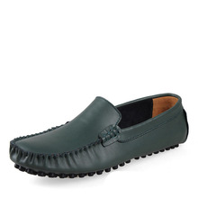 Płaskie buty męskie męskie wkładane mokasyny buty do jazdy samochodem mokasyny Homme męskie obuwie moda skórzane Slip On obuwie tanie tanio LINGGE Prawdziwej skóry Świńskiej Slip-on Pasuje prawda na wymiar weź swój normalny rozmiar Stałe Dla dorosłych